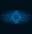 abstract futuristic board with hud light vector image