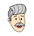 adult man face cartoon vector image