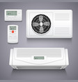 air conditioner isolated realistic vector image