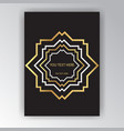 art deco page template octagonal geometric vector image