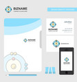 atoms business logo file cover visiting card and vector image vector image