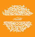 autumn bush leaves and flower banner vector image vector image