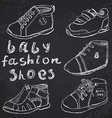 Baby fashion shoes set sketch handdrawn on vector image vector image