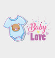 baby love card vector image vector image