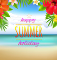 Beach Landscape Card vector image vector image