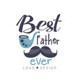 best father ever logo design creative label for vector image vector image