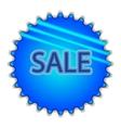 Big blue button labeled SALE vector image