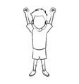boy happy cartoon vector image
