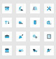 building colorful icons set collection of glass vector image