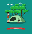 camping concept in flat style vector image