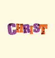 christ concept stamped word art vector image vector image