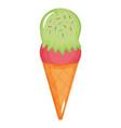 delicious ice cream cone icon vector image