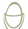 egg cup drawing vector image