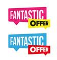 fantastic offer sale label vector image vector image