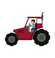 farm tractor vehicle vector image vector image