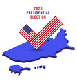 flag check mark vote 2020 in usa on isometric map vector image vector image