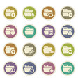 folders icons set vector image vector image