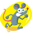 funny cartoon rat running scared vector image