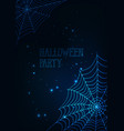 halloween banner template with glowing spider webs vector image vector image
