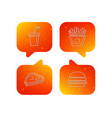 hamburger meat and soft drink icons vector image vector image