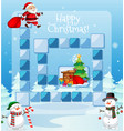 happy christmas game template vector image