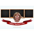 happy teachers day greeting card vector image