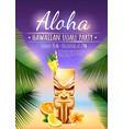 hawaiian luau party poster vector image vector image