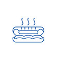 hot dog line icon concept hot dog flat vector image vector image