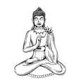 illuastration with buddha vector image vector image