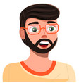 isolated at white portrait happy cheerful guy vector image