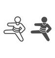 judo sportsman line and solid icon self defense vector image vector image