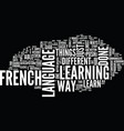 learn french the hard way text background word vector image vector image
