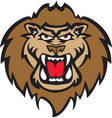 lion head logo mascot vector image vector image