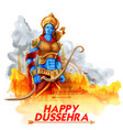 lord rama in navratri festival of india poster for vector image vector image