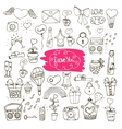 love doodle icons vector image