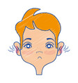 man with otitis earache illness infection vector image vector image
