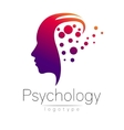Modern head logo of Psychology Profile Human vector image vector image