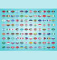 national flags from all over world with vector image vector image