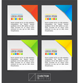 Paper sheets with colorful corners vector image vector image