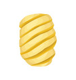 peeled spiral-shaped pineapple sweet tropical vector image vector image