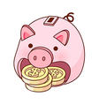Piggy money box vector image vector image