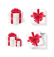 realistic detailed 3d empty boxes set vector image