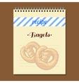 Recipe Book Bagels vector image vector image