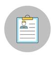 Resume concept line icon vector image