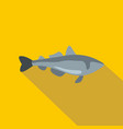 sea fish icon flat style vector image vector image