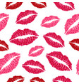 seamless pattern with cute lips creative texture vector image