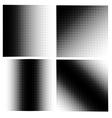 set 4 halftones vector image vector image