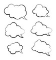 set of comic style speech bubbles clouds vector image vector image