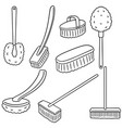 set of toilet brush vector image vector image