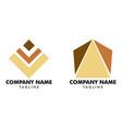 set pyramid logo template vector image vector image